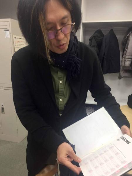 アキラさんのスケジュール帳はこちら!大き目ですね。