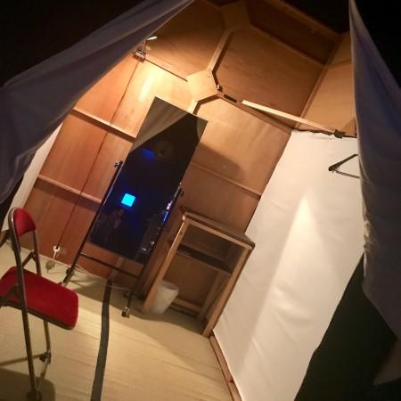 舞台袖の早替え室。今回使う場面がありませんでした(残念!)